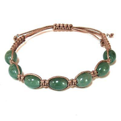 Green Aventurine Barrel Healing Energy Bracelet