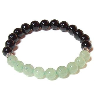 Green Aventurine & Black Onyx Healing Energy Stretch Bracelet