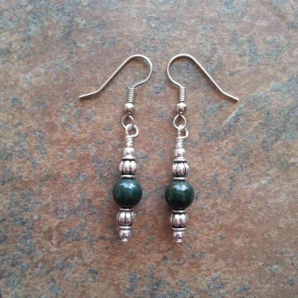 Green Bloodstone Earrings