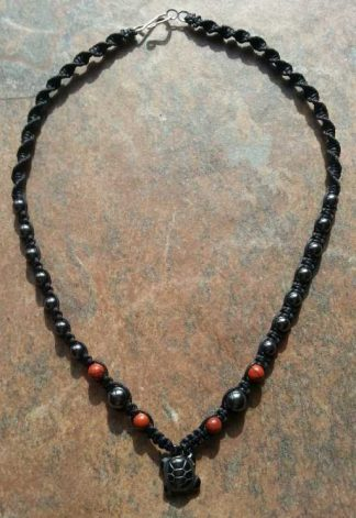Hematite Turtle Necklace