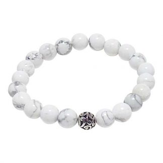 Howlite Healing Energy Bracelet (stretch)