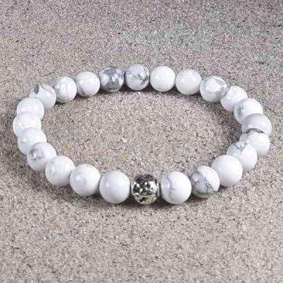 Howlite Healing Energy Stretch Bracelet