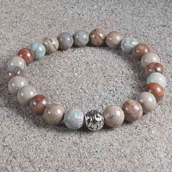 Impression Jasper Healing Energy Stretch Bracelet