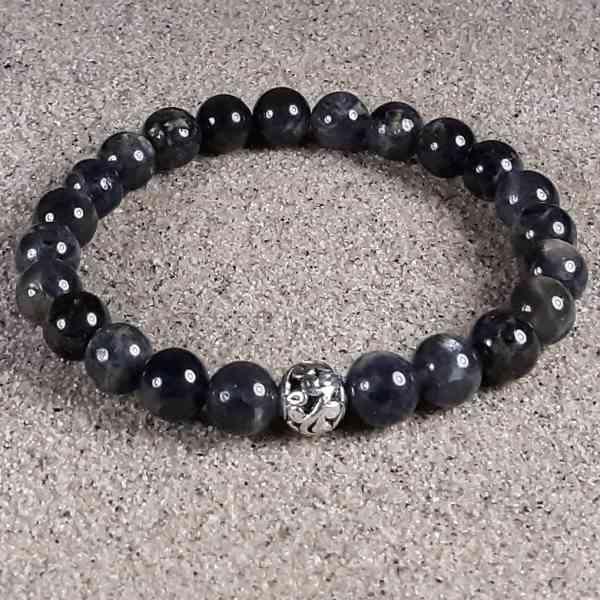 Iolite Healing Energy Stretch Bracelet