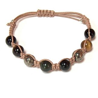 Jade, Pyrite, Tiger Eye & Black Onyx Healing Energy Bracelet