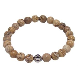 Landscape Jasper Healing Energy Bracelet (stretch)