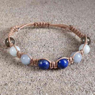 Lapis, Angelite, Amazonite & Labradorite Healing Energy Bracelet