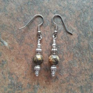 Leopard Skin Jasper Earrings