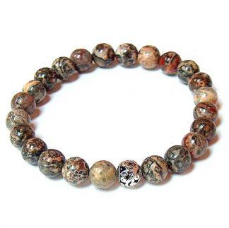 Leopard Skin Jasper Healing Energy Stretch Bracelet