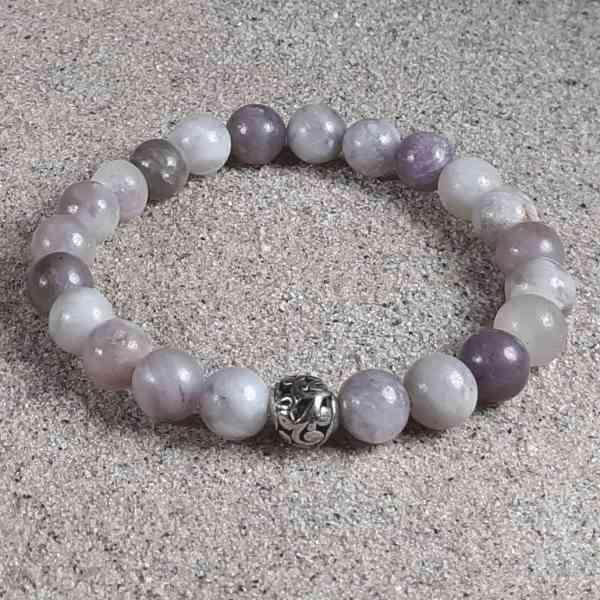 Lilac Stone Healing Energy Stretch Bracelet