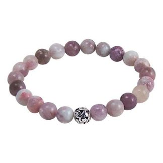 Lilac Stone Healing Energy Bracelet (stretch)
