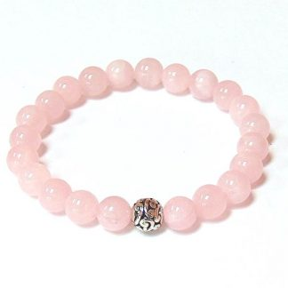Madagascar Rose Quartz Healing Energy Stretch Bracelet