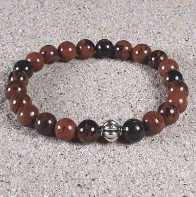 Mahogany Obsidian Healing Energy Stretch Bracelet