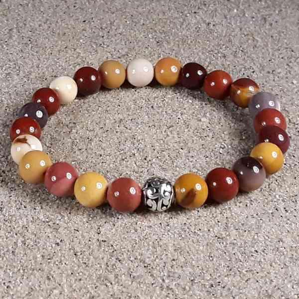 Mookaite Jasper Healing Energy Stretch Bracelet