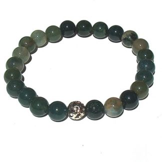 Moss Agate Healing Energy Stretch Bracelet