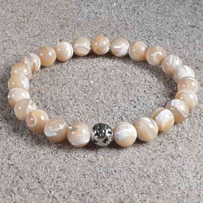 Mother of Pearl Healing Energy Stretch Bracelet