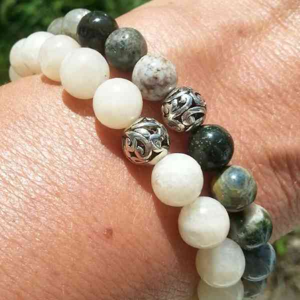 Mystic Zen Healing Energy Gemstone Stretch Bracelets