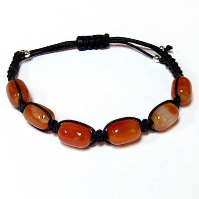 Natural Carnelian Healing Energy Barrel Bracelet