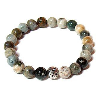 Ocean Jasper Healing Energy Stretch Bracelet