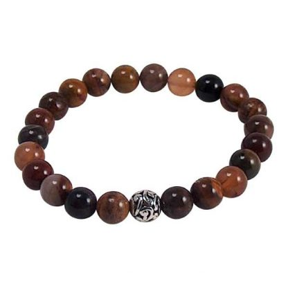 Petrified Wood Healing Energy Bracelet (stretch)