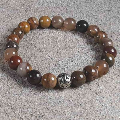 Petrified Wood Healing Energy Stretch Bracelet