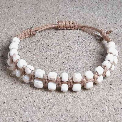 Pink Conch Shell Healing Energy Bracelet