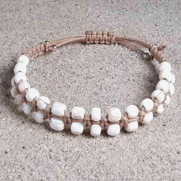 Pink Conch Shell Healing Energy Bracelet