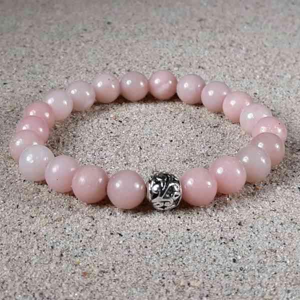 Pink Opal Healing Energy Stretch Bracelet