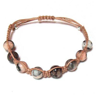 Pink Zebra Healing Energy Bracelet
