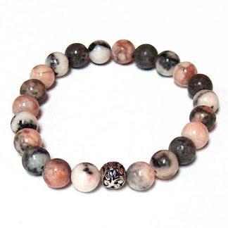 Pink Zebra Healing Energy Stretch Bracelet