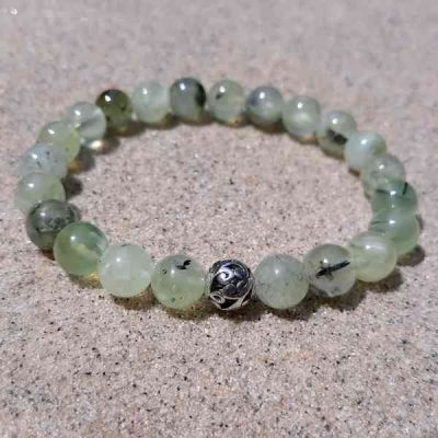Prehnite Healing Energy Stretch Bracelet