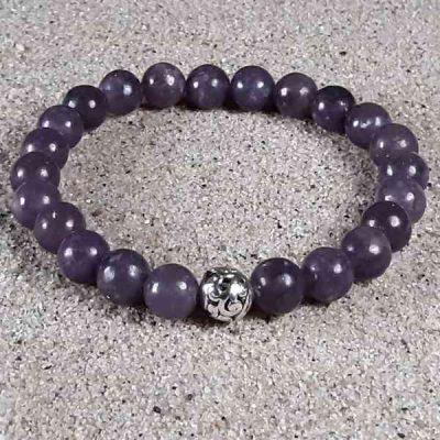 Purple Lepidolite Healing Energy Stretch Bracelet