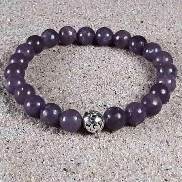 Purple Lepidolite Healing Energy Stretch Bracelet