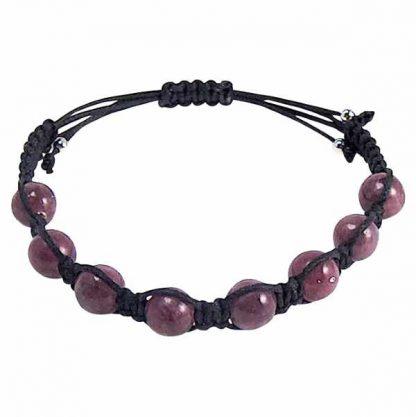 Purple Lepidolite Healing Energy Bracelet