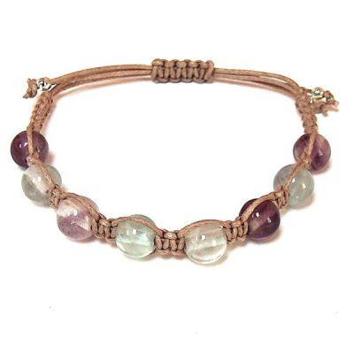 Rainbow Fluorite Healing Energy Bracelet