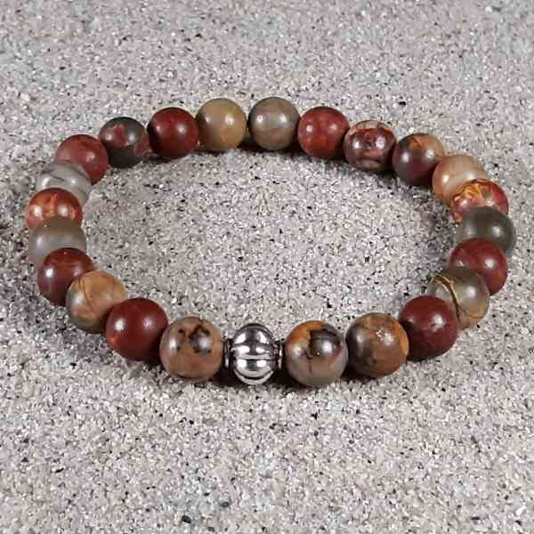 Red Creek Jasper Healing Energy Stretch Bracelet