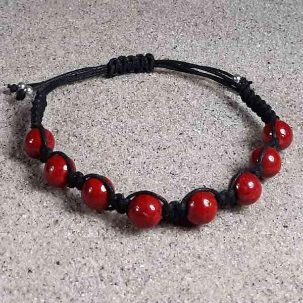 Red Fossil Jasper Healing Energy Bracelet
