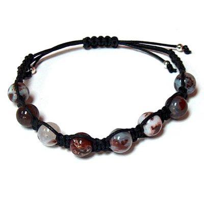 Red Lightning Agate Healing Energy Bracelet