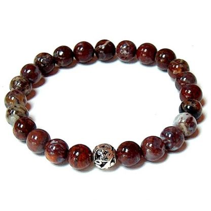 Red Lightning Agate Healing Energy Stretch Bracelet