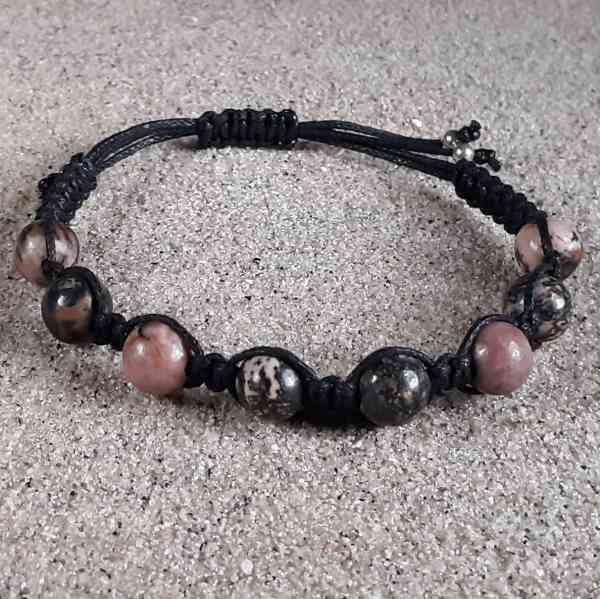 Rhodonite Matrix Healing Energy Bracelet
