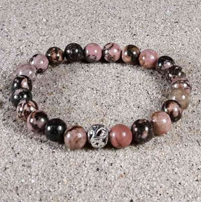 Matrix Rhodonite Healing Energy Stretch Bracelet