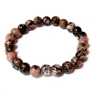 Rhodonite Matrix Healing Energy Stretch Bracelet