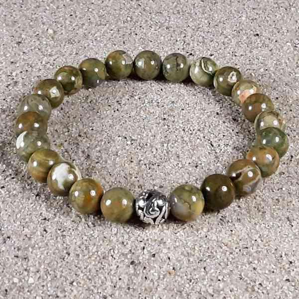 Rhyolite Healing Energy Stretch Bracelet