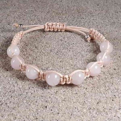 Madagascar Rose Quartz Healing Energy Bracelet