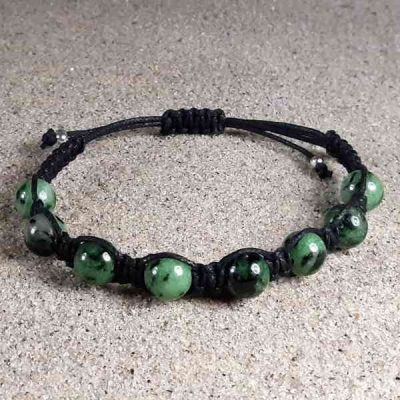 Ruby Ziosite Healing Energy Bracelet