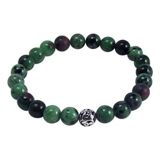 Ruby Zoisite Healing Energy Bracelet (stretch)