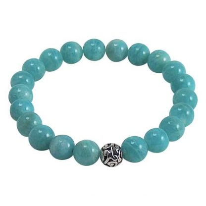 Russian Amazonite Healing Energy Bracelet (stretch)