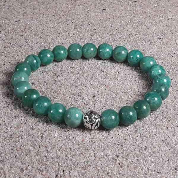 Russian Amazonite Healing Energy Stretch Bracelet