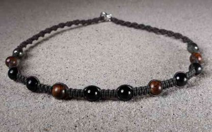 Genuine Shungite, Black Tourmaline, Rosewood & Pyrite Positive Energy Necklace