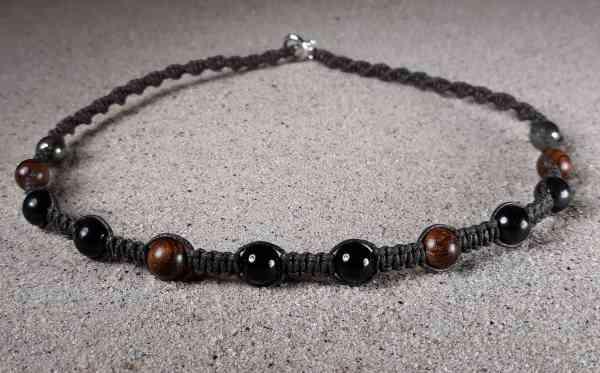 Genuine Shungite, Black Tourmaline, Rosewood & Pyrite Positive Energy Necklace